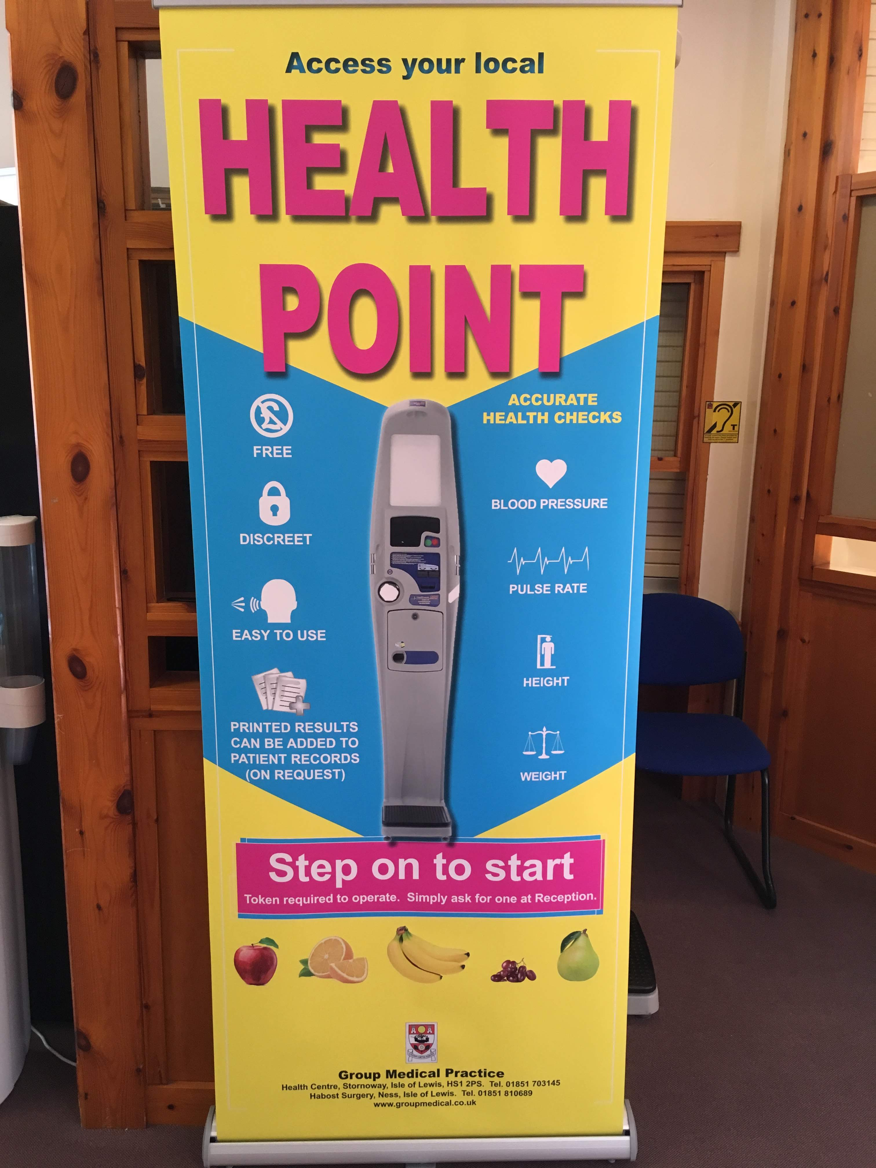 Health Point Monitor Signage