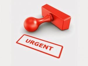 Urgent appt