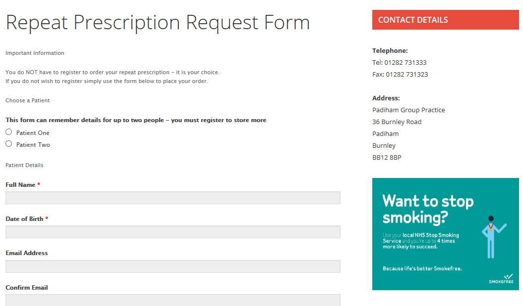 Online-PX-Order-form Prescription Request Form Examples on testimonials form examples, search form examples, patient history form examples, contact form examples, registration form examples,
