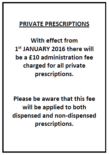 Private Prescriptions