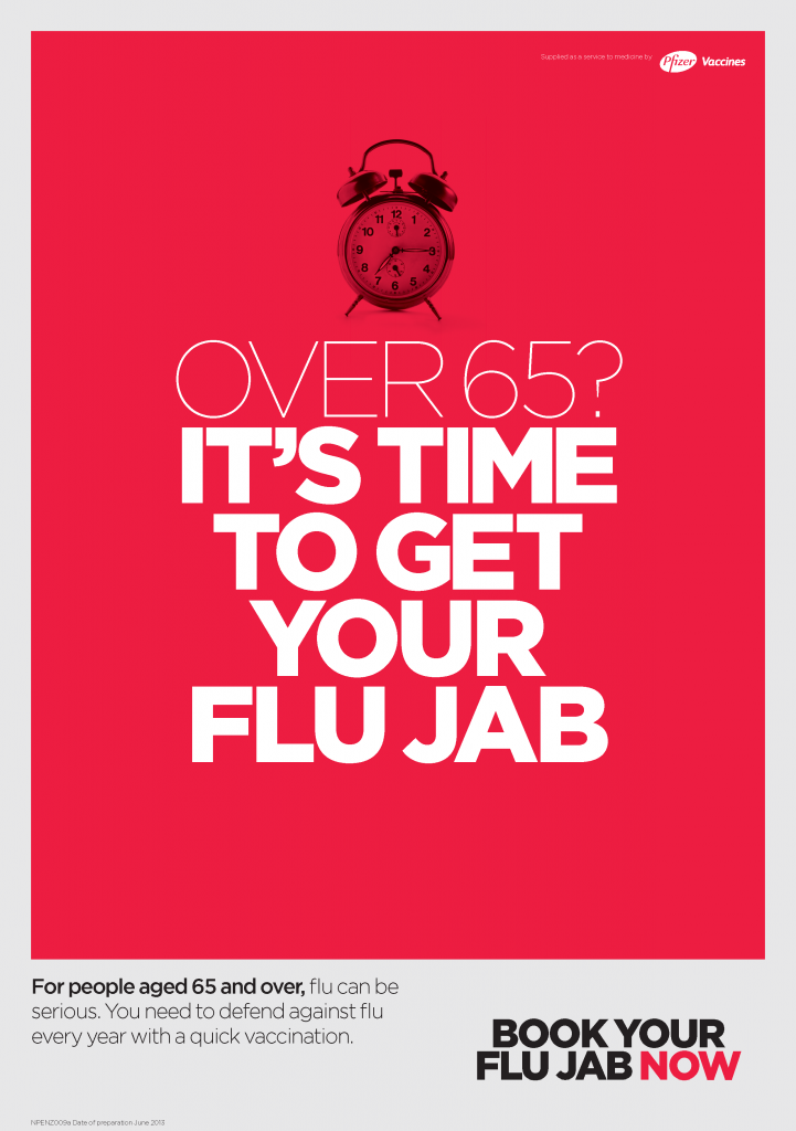 Flu Poster over 65 Pfizer